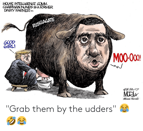 """Conservative Memes: """"Grab them by the udders"""" 😂🤣😂"""