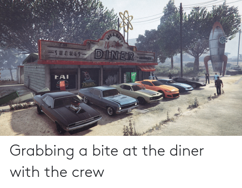 bite: Grabbing a bite at the diner with the crew