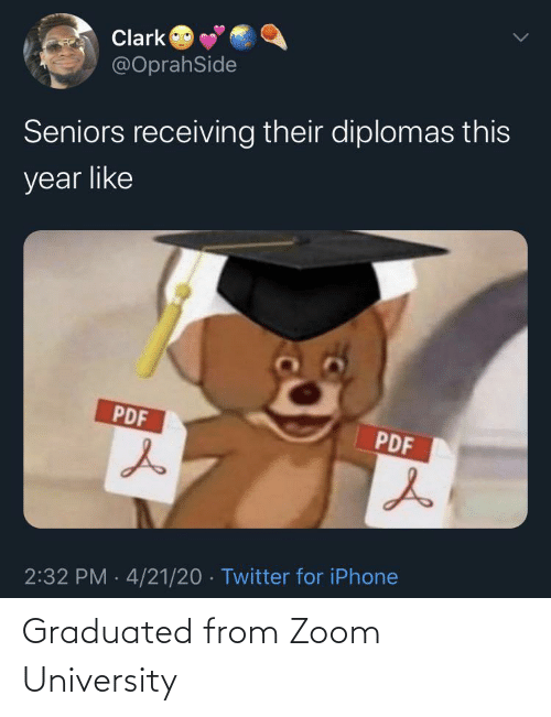 university: Graduated from Zoom University