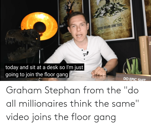 "millionaires: Graham Stephan from the ""do all millionaires think the same"" video joins the floor gang"