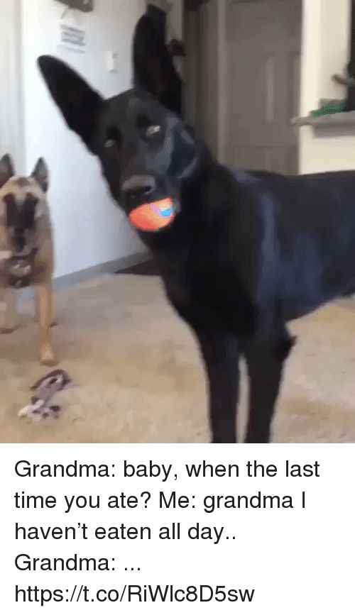 Grandma, Time, and Relatable: Grandma: baby, when the last time you ate?  Me: grandma I haven't eaten all day..  Grandma: ... https://t.co/RiWlc8D5sw