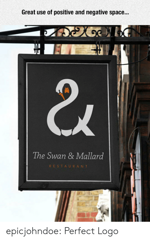 Tumblr, Blog, and Restaurant: Great use of positive and negative space...  The Swan & Mallard  RESTAURANT epicjohndoe:  Perfect Logo