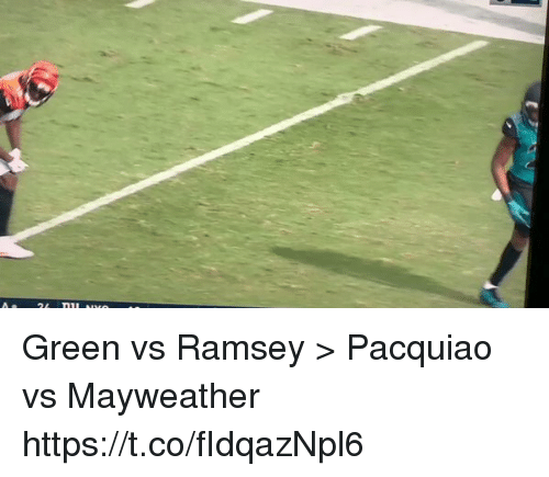 Football, Mayweather, and Nfl: Green vs Ramsey > Pacquiao vs Mayweather    https://t.co/fIdqazNpl6