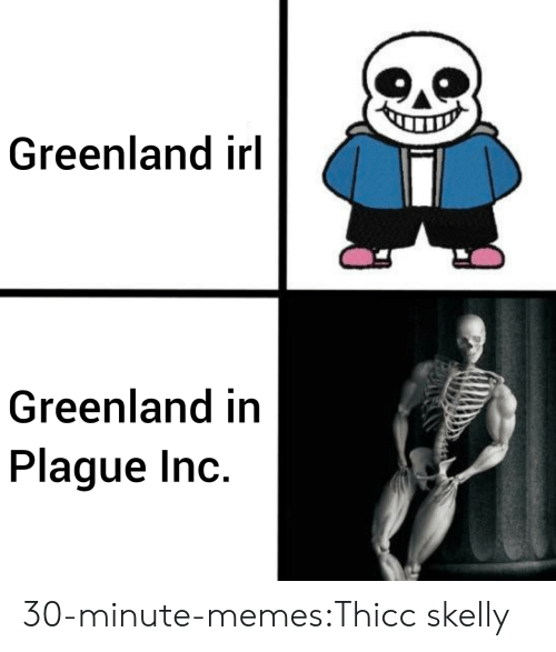 Memes, Target, and Tumblr: Greenland irl  Greenland in  Plague Inc. 30-minute-memes:Thicc skelly