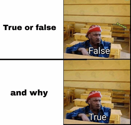 Memes, True, and 🤖: Grew  Sameh  True or false  False  and why  True