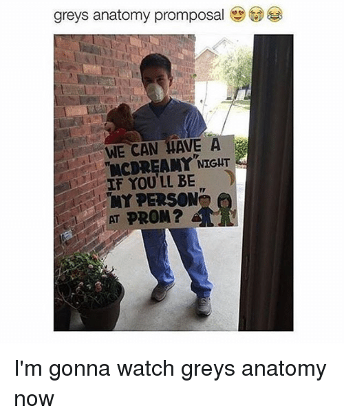 Greys Anatomy Promposal We Can Have A Night If You Ll Be My Person