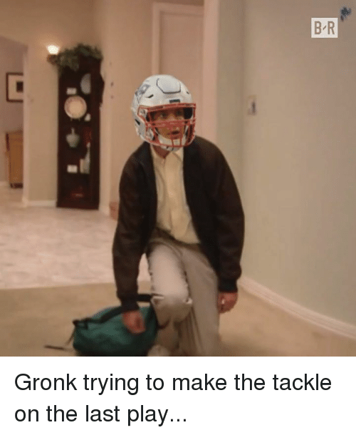 Play, Make, and  Gronk: Gronk trying to make the tackle on the last play...