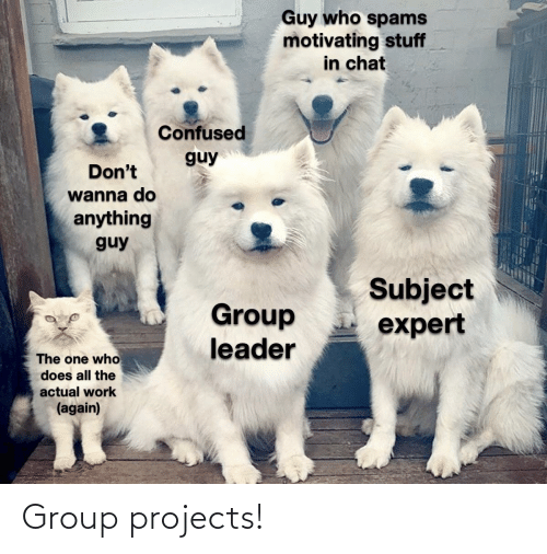 group: Group projects!