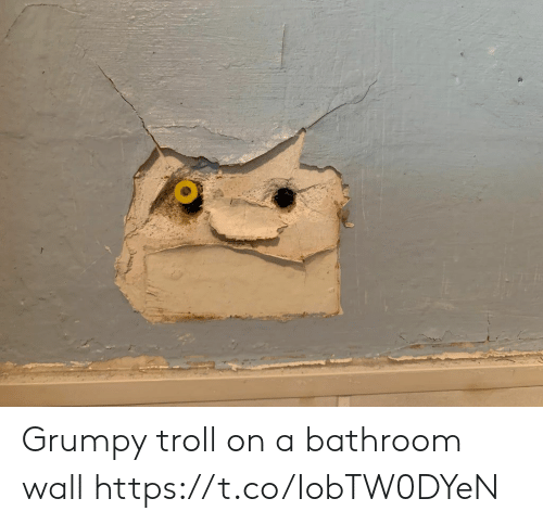 grumpy: Grumpy troll on a bathroom wall https://t.co/IobTW0DYeN