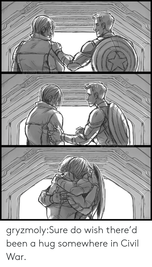 Civil War: gryzmoly:Sure do wish there'd been a hug somewhere in Civil War.