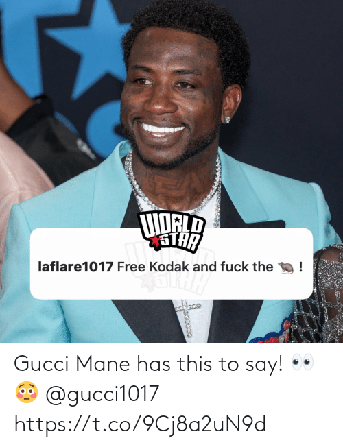 Gucci: Gucci Mane has this to say! 👀😳 @gucci1017 https://t.co/9Cj8a2uN9d