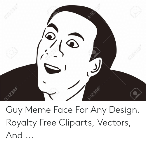 Meme, Free, and Design: Guy Meme Face For Any Design. Royalty Free Cliparts, Vectors, And ...