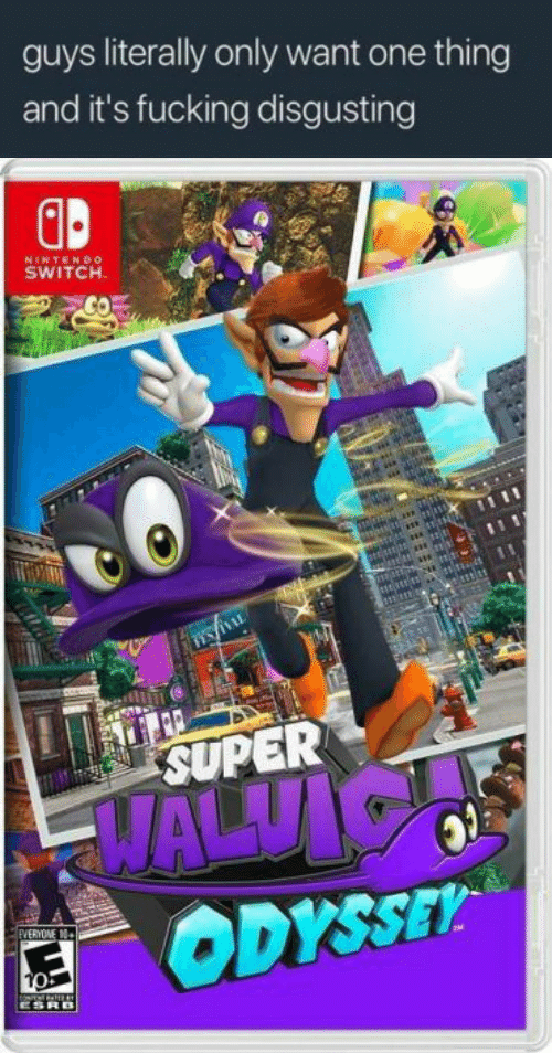 Fucking, Nintendo, and Super: guys literally only want one thing  and it's fucking disgusting  GB  NINTENDo  SWITCH  SUPER