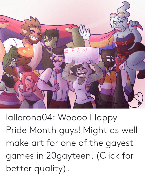 Click, Tumblr, and Blog: GXPAN  JT lallorona04:  Woooo Happy Pride Month guys! Might as well make art for one of the gayest games in 20gayteen. (Click for better quality).