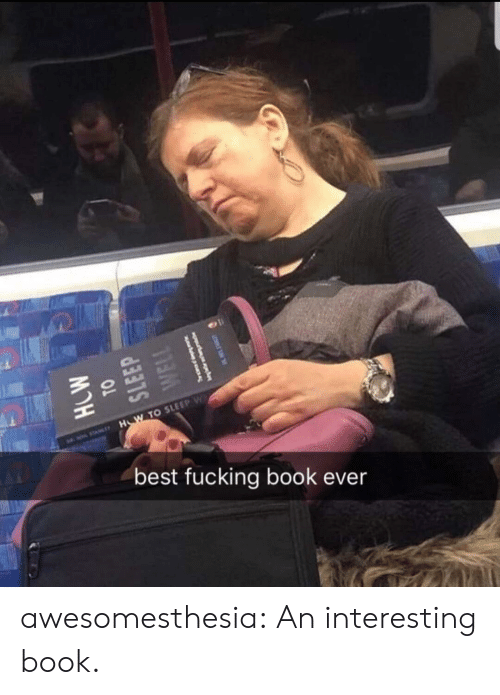 Fucking, Tumblr, and Best: H W TO SLEEP W  best fucking book ever awesomesthesia:  An interesting book.