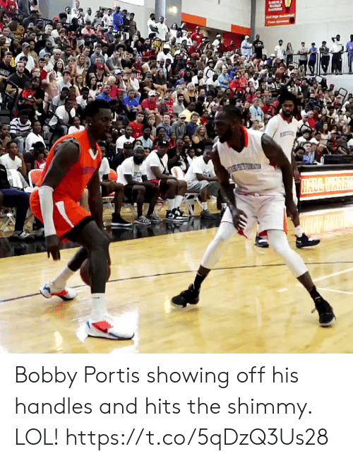 handles: HALL WARK Bobby Portis showing off his handles and hits the shimmy. LOL! https://t.co/5qDzQ3Us28