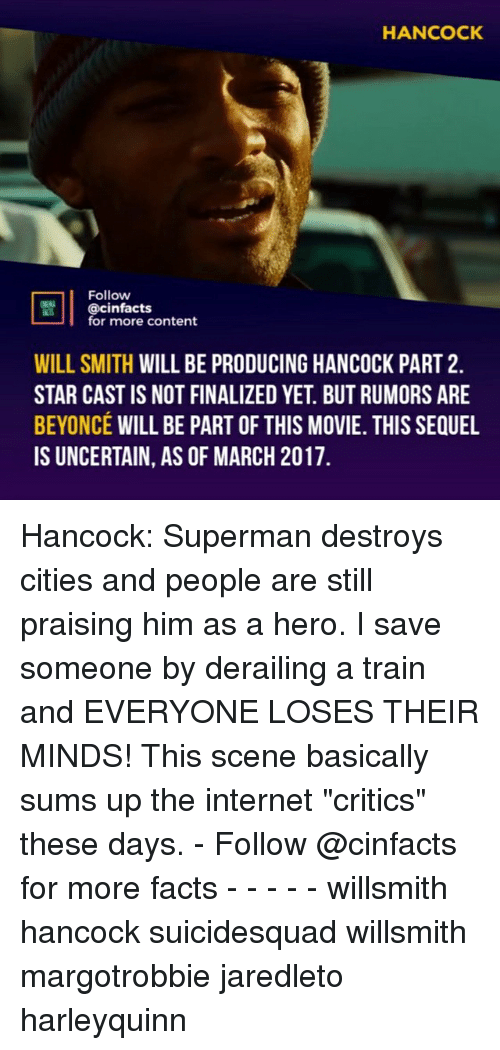 """Beyonce, Facts, and Internet: HANCOCK  Follow  