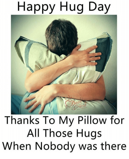 Happy Hug Day Thanks To My Pillow For All Those Hugs When Nobody Was