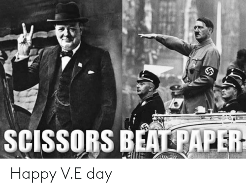 E: Happy V.E day