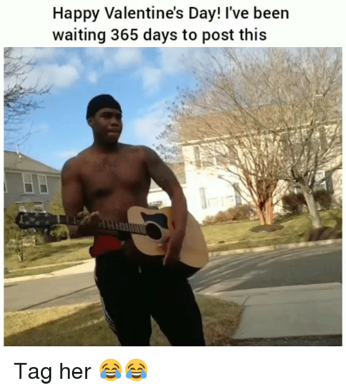 Funny, Valentine's Day, and Happy: Happy Valentine's Day! I've been  waiting 365 days to post this Tag her 😂😂