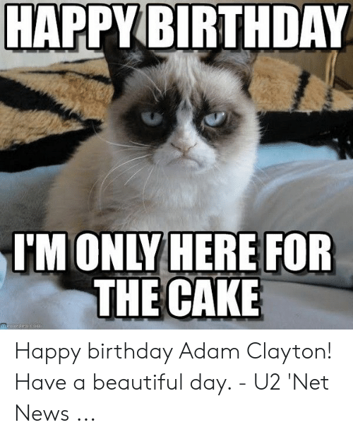 Birthday Adam: HAPPYBIRTHDAY  MONLY HERE FOR  THE CAKE Happy birthday Adam Clayton! Have a beautiful day. - U2 'Net News ...