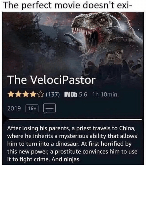 Movie: Has to be the greatest movie plot ever. https://t.co/VFuyw4yaRw