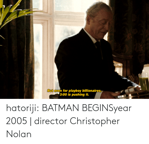 christopher nolan: hatoriji:  BATMAN BEGINSyear 2005 | director Christopher Nolan