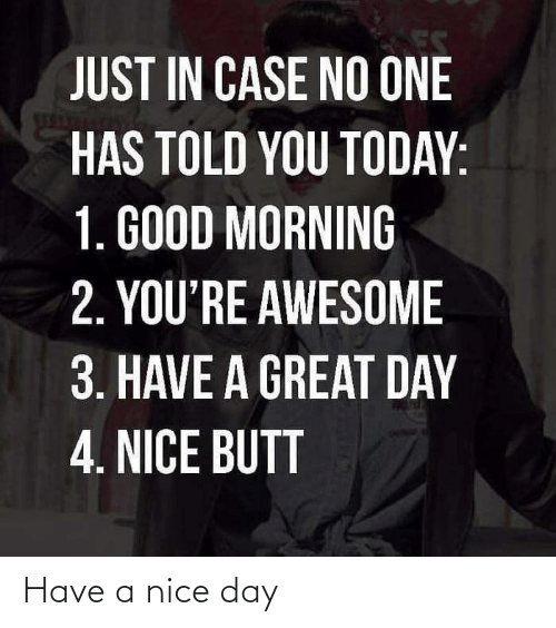 nice-day: Have a nice day