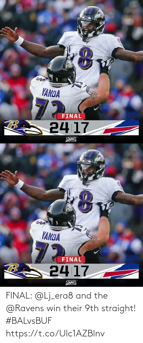 Memes, Ravens, and 🤖: HAVENS  RAVENS  YANGA  72  24 17  FINAL   HATENS  7  AVENS  YANDA  72  24 17  FINAL FINAL: @Lj_era8 and the @Ravens win their 9th straight! #BALvsBUF https://t.co/Ulc1AZBlnv