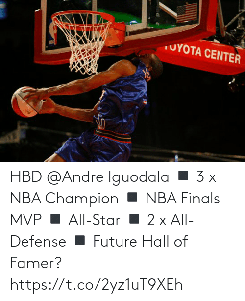 defense: HBD @Andre Iguodala  ◾️ 3 x NBA Champion  ◾️ NBA Finals MVP ◾️ All-Star ◾️ 2 x All-Defense ◾️ Future Hall of Famer?   https://t.co/2yz1uT9XEh