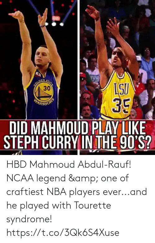 legend: HBD Mahmoud Abdul-Rauf! NCAA legend & one of craftiest NBA players ever...and he played with Tourette syndrome!  https://t.co/3Qk6S4Xuse