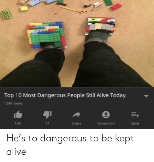 Kept Alive: He's to dangerous to be kept alive