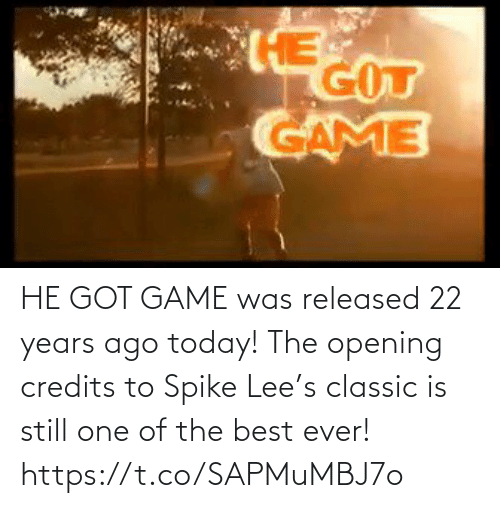 classic: HE GOT GAME was released 22 years ago today!   The opening credits to Spike Lee's classic is still one of the best ever!   https://t.co/SAPMuMBJ7o
