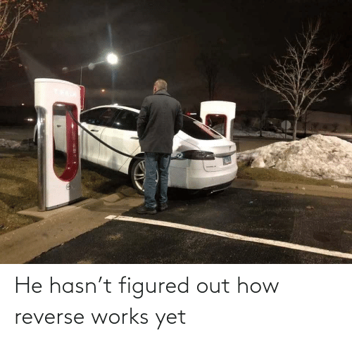 Reverse: He hasn't figured out how reverse works yet