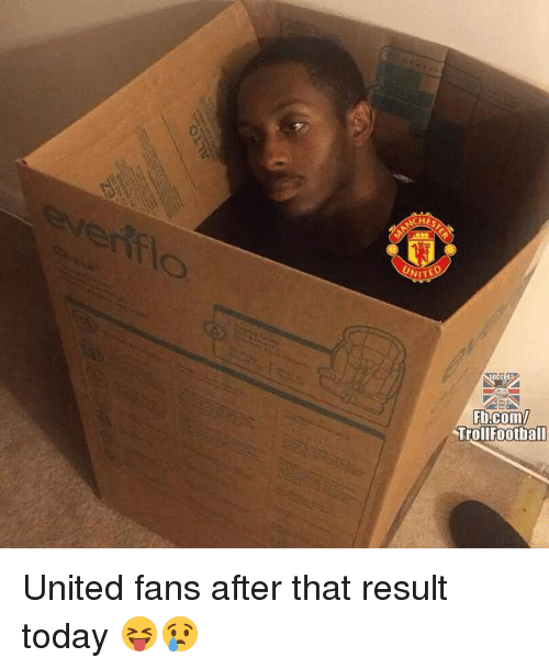 Memes, fb.com, and Today: HE  NIT  Fb.com/  TrollFootball United fans after that result today 😝😢