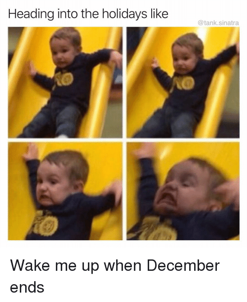 Funny, Tank, and Sinatra: Heading into the holidays like  @tank.sinatra Wake me up when December ends