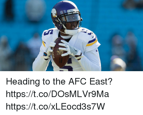 Memes, Afc East, and 🤖: Heading to the AFC East? https://t.co/DOsMLVr9Ma https://t.co/xLEocd3s7W