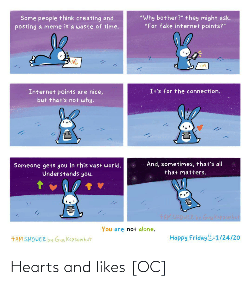 Hearts: Hearts and likes [OC]