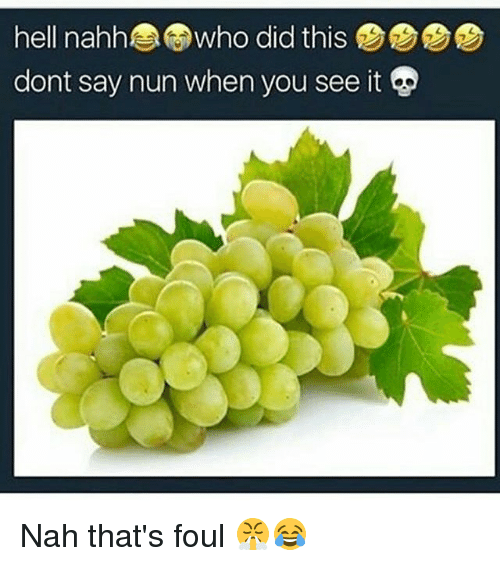 Memes, When You See It, and Hell: hell nahhwho did this  dont say nun when you see it p Nah that's foul 😤😂