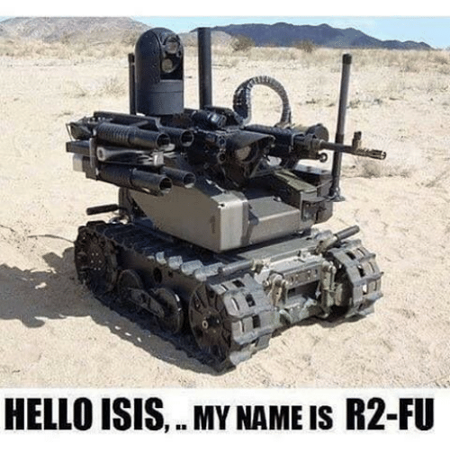 Hello, Isis, and Memes: HELLO ISIS,. MY NAME IS R2-FU