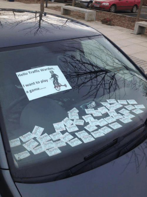 Hello, Traffic, and Game: Hello Traffic Warden,  I want to play  a game....  BSC