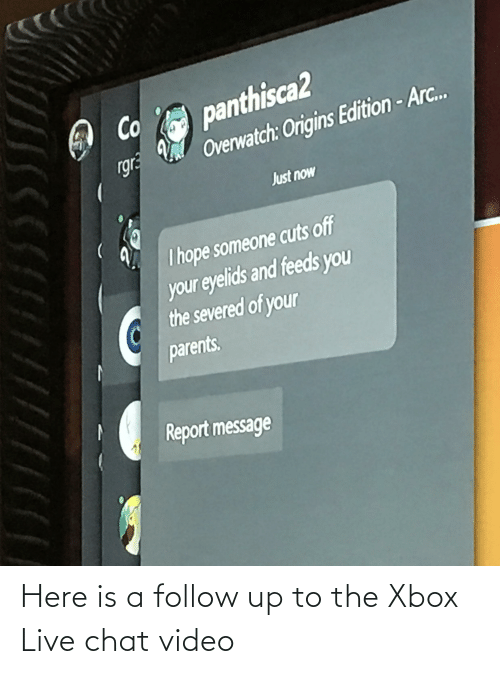 xbox live: Here is a follow up to the Xbox Live chat video
