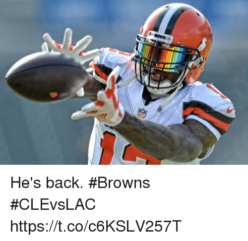 Memes, Browns, and Back: He's back. #Browns #CLEvsLAC https://t.co/c6KSLV257T