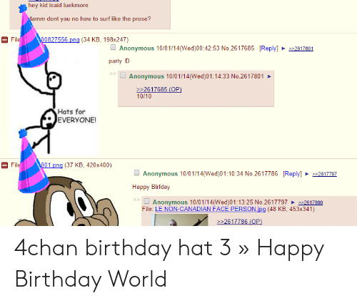 🦅 25+ Best Memes About 4Chan Birthday Hat | 4Chan Birthday
