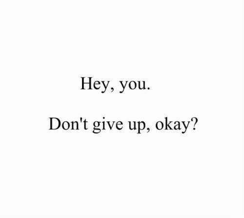 dont give up: Hey, you.  Don't give up, okay?