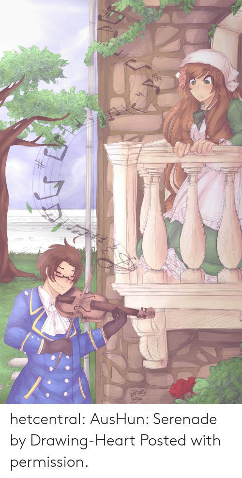 Target, Tumblr, and Blog: HF  NA  Phrat hetcentral: AusHun: Serenade by Drawing-Heart  Posted with permission.