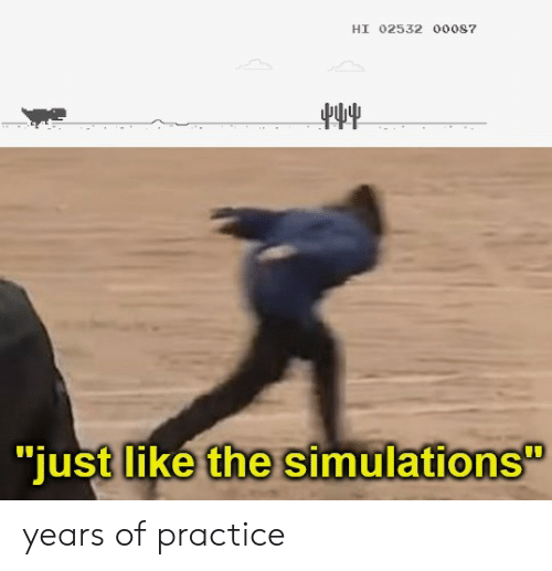 """Like, Just, and  Years: HI 02532 00087  """"just like the simulations years of practice"""