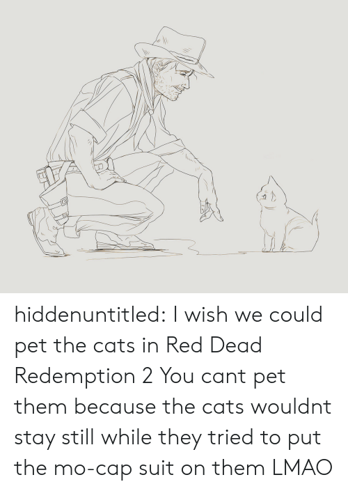red dead redemption 2: hiddenuntitled: I wish we could pet the cats in Red Dead Redemption 2  You cant pet them because the cats wouldnt stay still while they tried to put the mo-cap suit on them LMAO