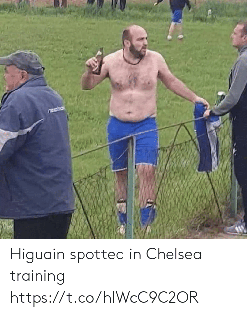 Chelsea, Memes, and 🤖: Higuain spotted in Chelsea training https://t.co/hlWcC9C2OR