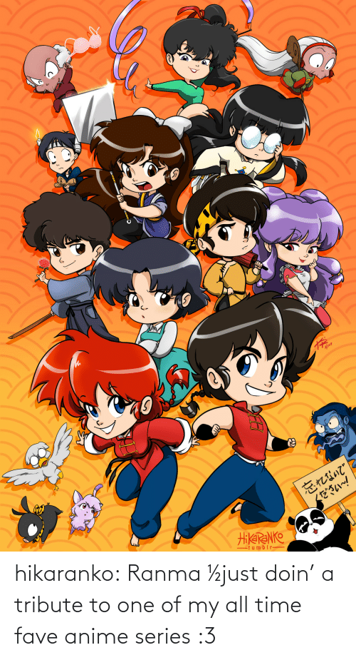 anime: hikaranko:  Ranma ½just doin' a tribute to one of my all time fave anime series :3
